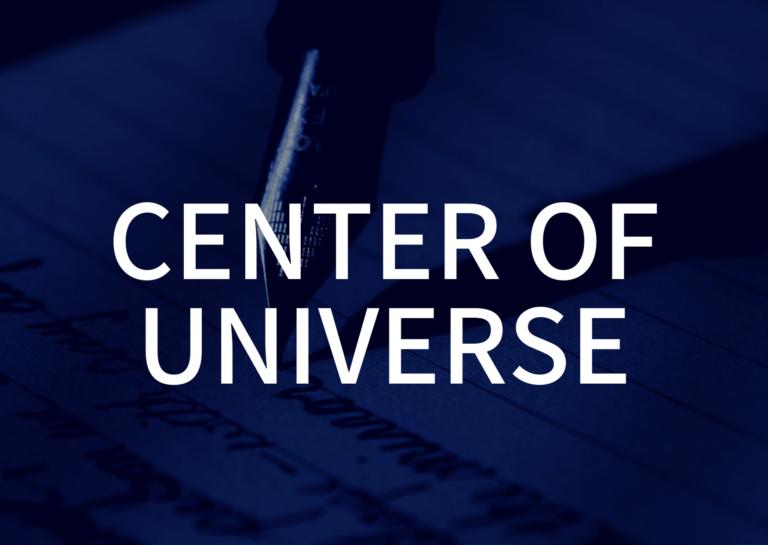 Mr.Children「CENTER OF UNIVERSE」の歌詞の意味・解釈。自分こそが自分の中心。総ては捕らえ方次第